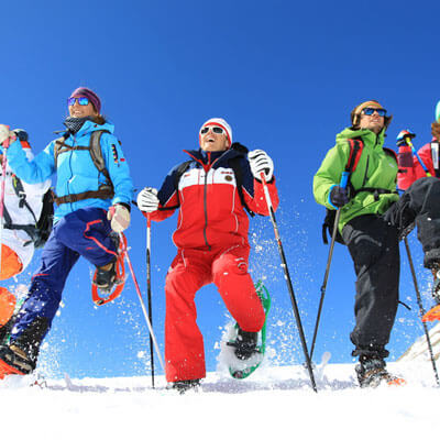 With friends or family, discover the joy of snowshoeing
