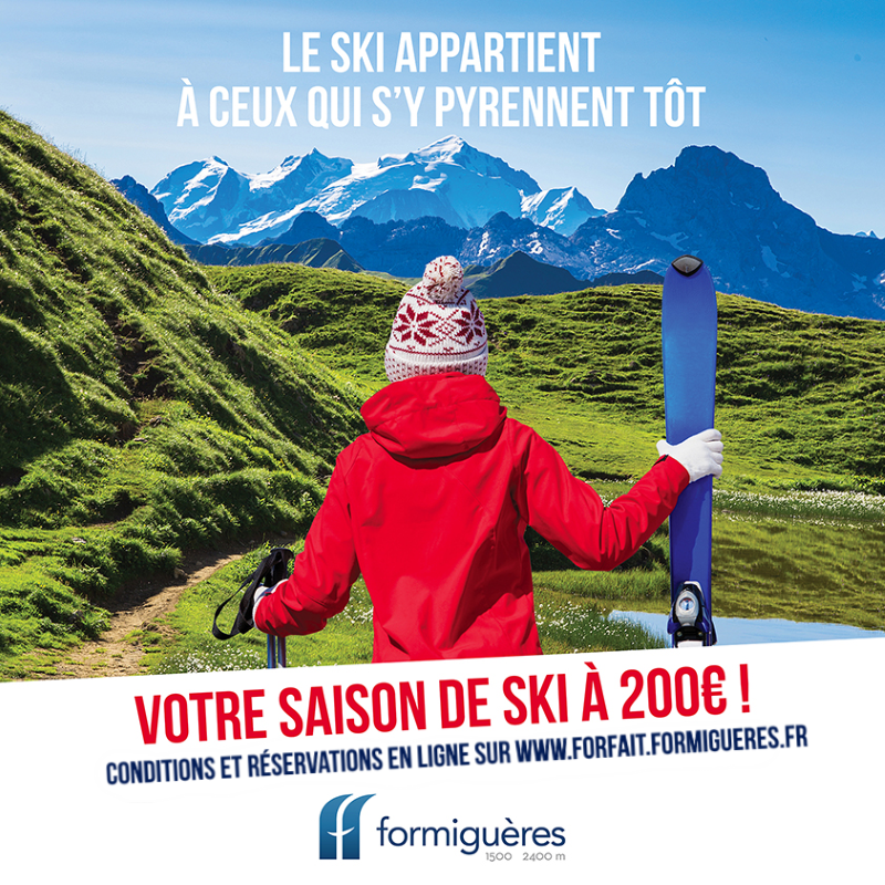 Offre spéciale forfait saison Formiguères à 200€