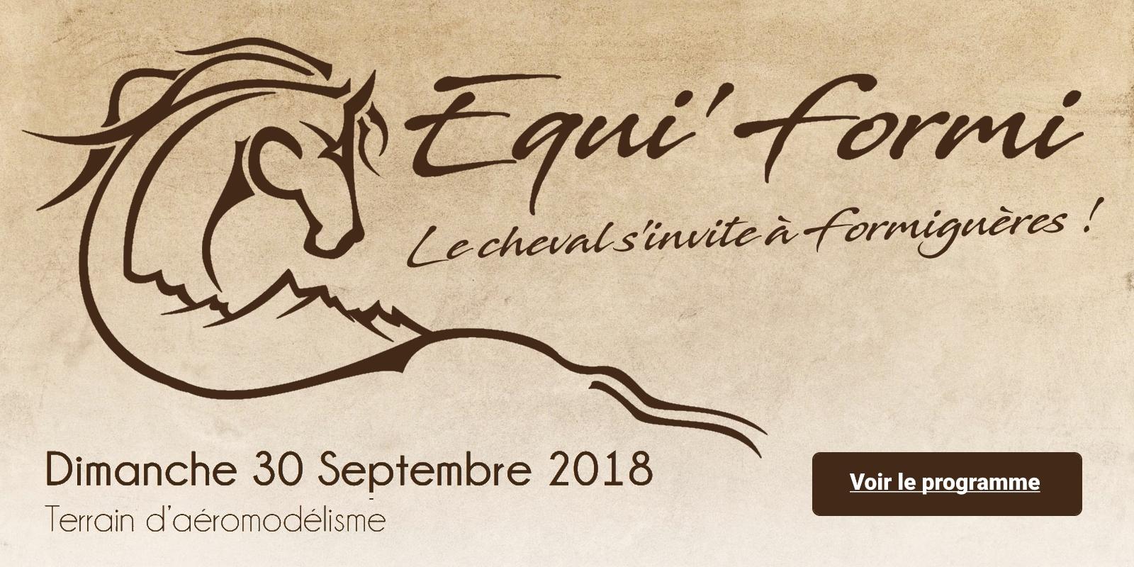Equi'Formi - Dimanche 30 septembre 2018