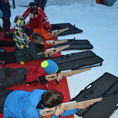 Cours de biathlon laser