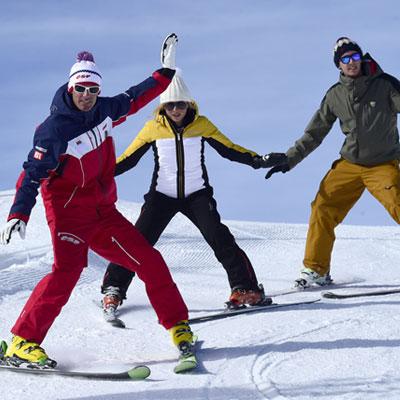 Tomar clases de esquí sea cual sea su nivel