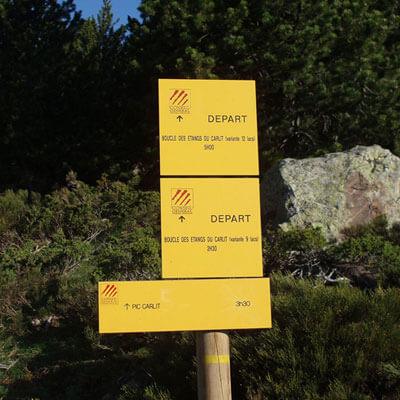Parcourez les itinéraires de randonnées balisées au départ du Carlit