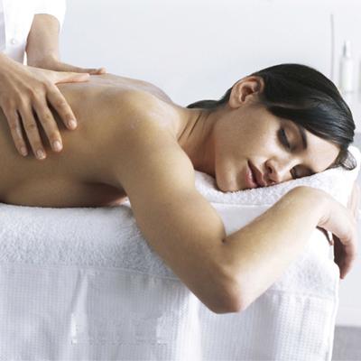 Masaje en el corazón de la zona de spa