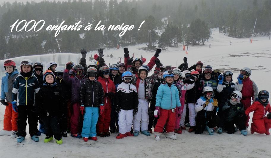 1000 enfants à la neige à Formiguères